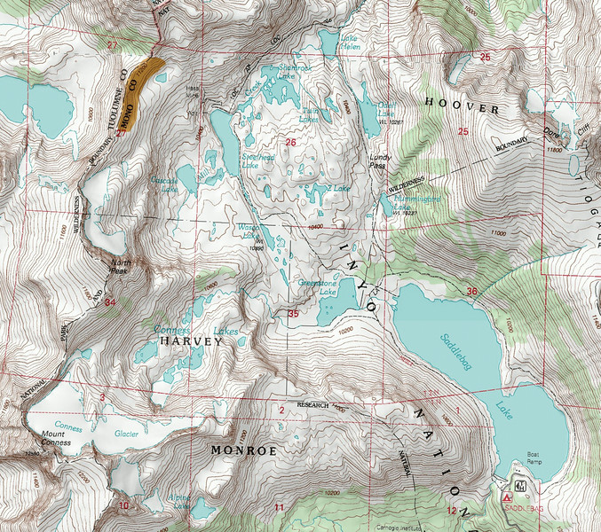Topo map showing the area
