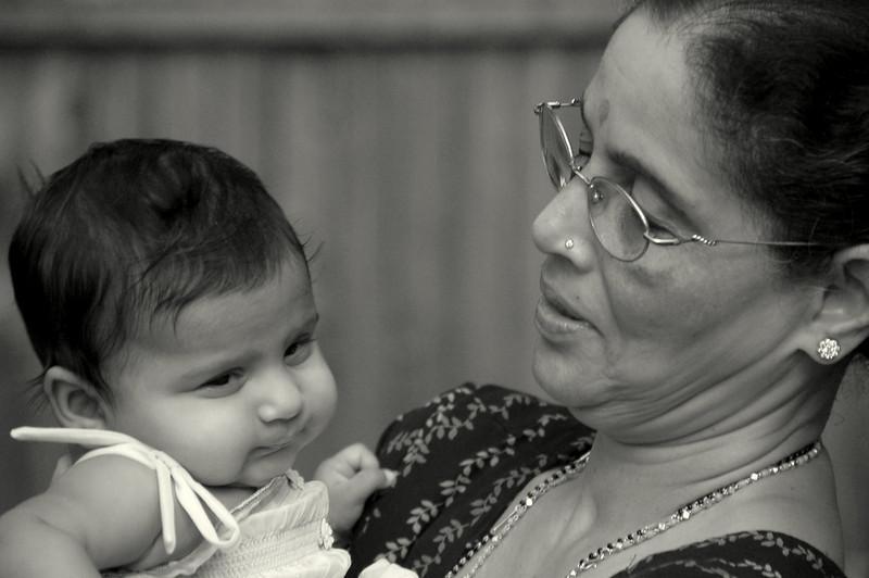 Sahana and grandma - 2