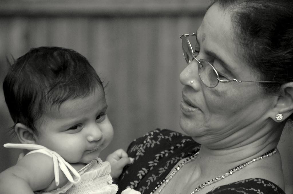 Sahana and grandma - 2
