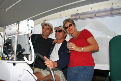 The Captain, his pretty First Mate and me, the stowaway.