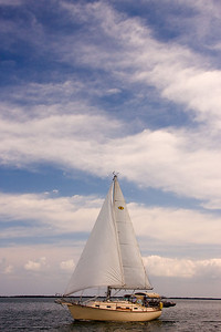A nice cutter rig. Looks like a Island Packet sailboat.