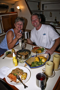 Another great meal with Ray and Charlotte. We ate salmon, oriental noodles and grilled corn on the cobb! I loved it!