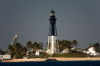 One of the neat things about sailing are lighthouses. They are all unique and interesting. This is the Hillsboro Inlet Lighthouse. It was built in 1906 in Detroit and shipped all the way to Florida. Originally illuminated with a kerosene lamp, it now uses a fresnel lens that can be seen 28 miles out to sea. The light marks the northern limit of the Florida Reef. It is located between Boca Raton and Fort Lauderdale in Hillsboro Beach. http://www.hillsborolighthouse.org/history.html