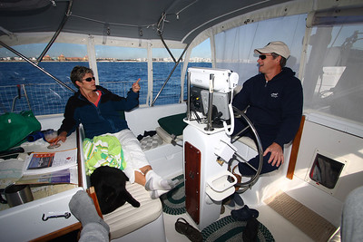 We had charts and guides scattered all over until Ray installed a holder on the side of the captains seat.
