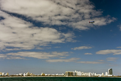 A beautiful day as we sail by famous South Beach, Miami.