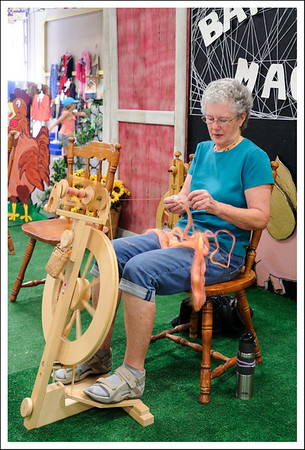 Spinning.  This was a combination of sheep and alpaca.