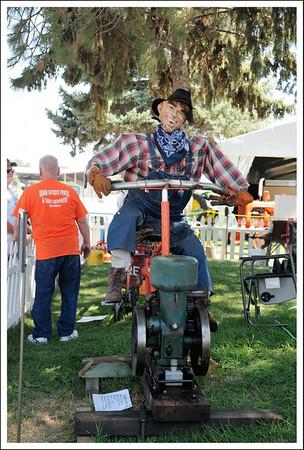 The antique farm equipment exhibit was interesting.