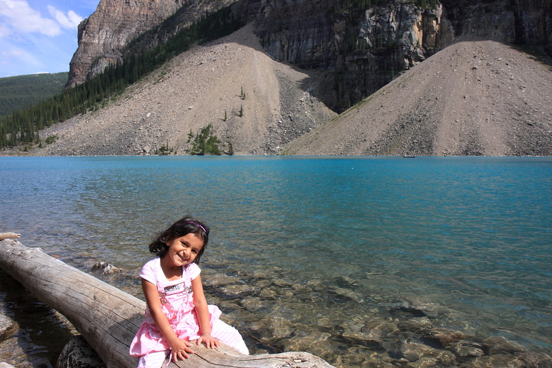 Sakshi at Morain Lake