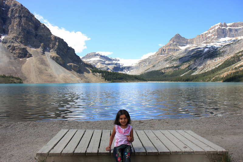 Sakshi at Bow Glacier/Lake
