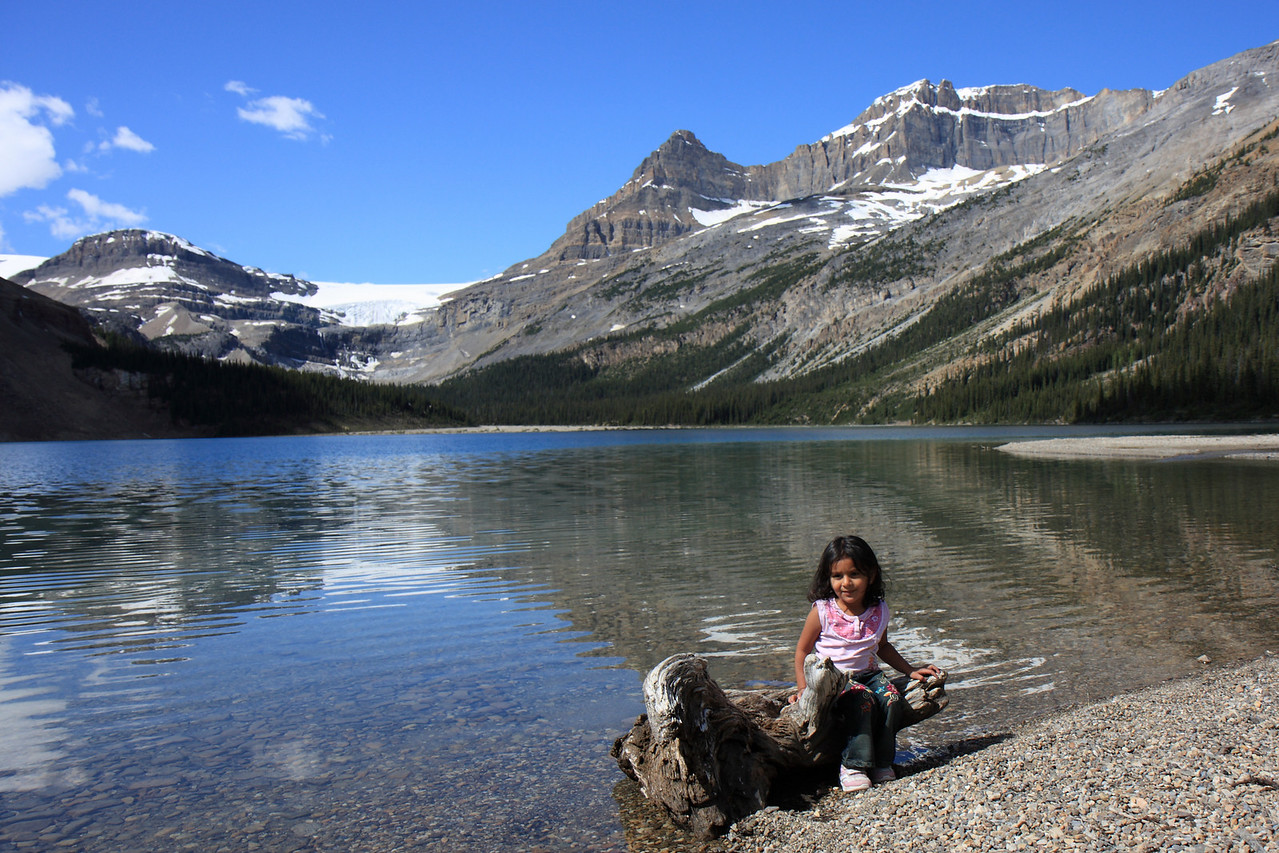 Sakshi at Bow Lake/ Glacier