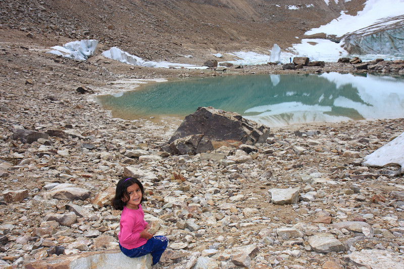 Sakshi at Mount Edith Cavell
