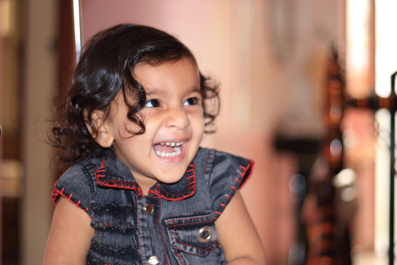 Sakshi at our home at Bhavnagar, India