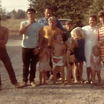 Don, Sam, Bob Weber, Granny, Alice Webber and Weber/Racadio kids -  Circa; 1964