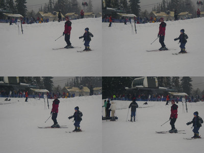 Miles is skiing on his own by now!