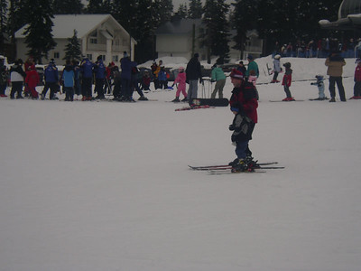 And they ski past!