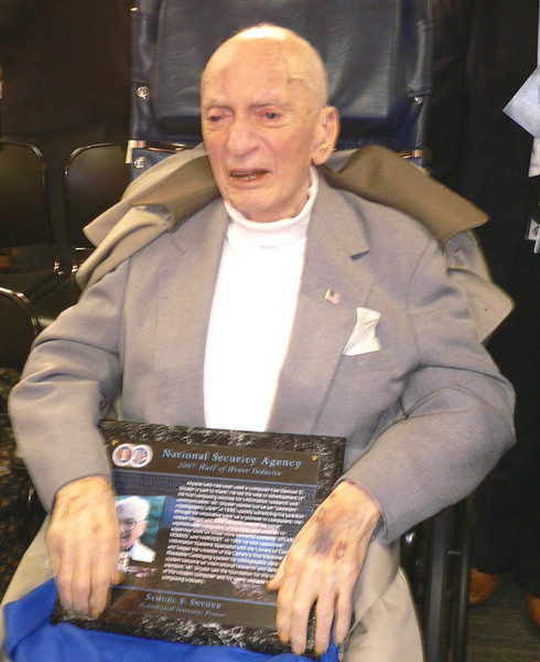 Samuel S. Snyder - NSA Hall of Honor Inductee 2007