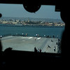 The view from the bridge of the USS Midway aircraft carrier.
