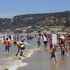 At La Jolla beach.  it was crowded and we had to work hard to find parking.