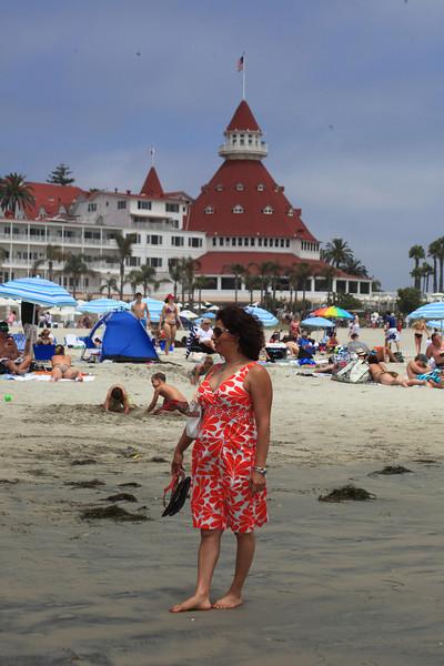 Saadia on the beach.