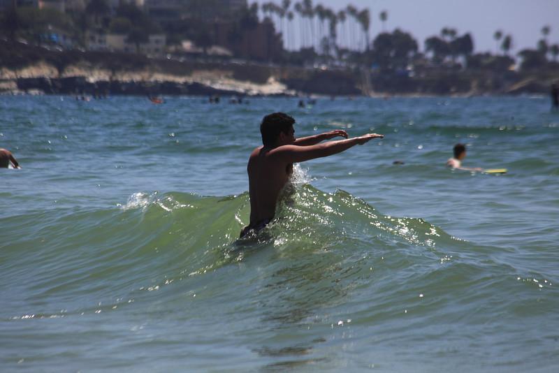Dany runs into the waves