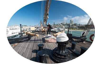 Forward deck of the Blacutha
