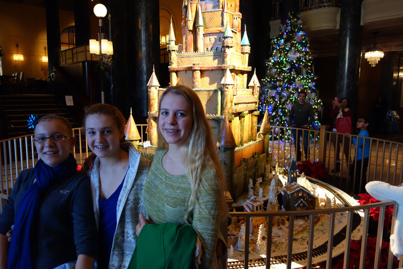 Went by the St. Francis to see the castle made out of sugar