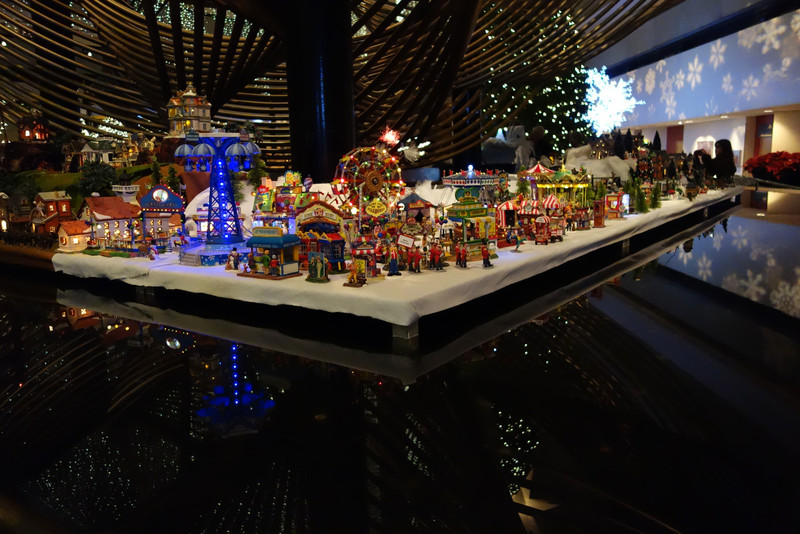 We spent some time in the Hyatt Regency where they have a huge village set up