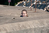 Sara playing in the concrete bunkers near Golden Gate Bridge