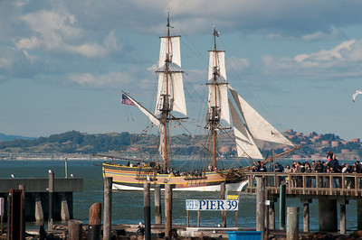 A few tall ships were out on the bay this day