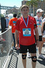Right after the finish, wearing my medal for finishing.