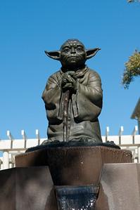 Statue of Yoda at the Lucas Arts studio in the Presidio