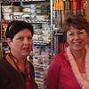 Miri and Maureen window shopping in Sur La Table