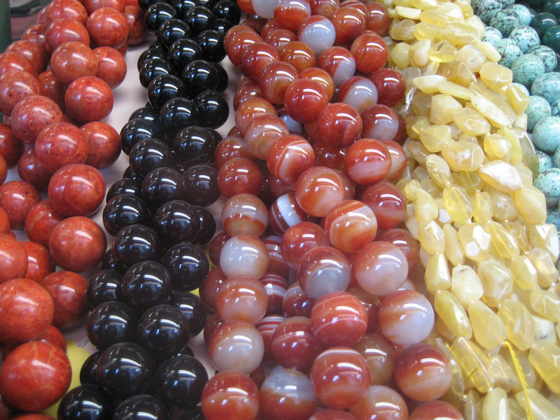 Beads in a store