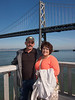 Duane & Sandra & the Bay Bridge - Along the Embarcadero, San Francisco