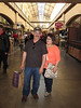 Shopping at the Ferry Building. Duane and Sandra in San Francisco