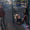 Swinging at Ryland Park