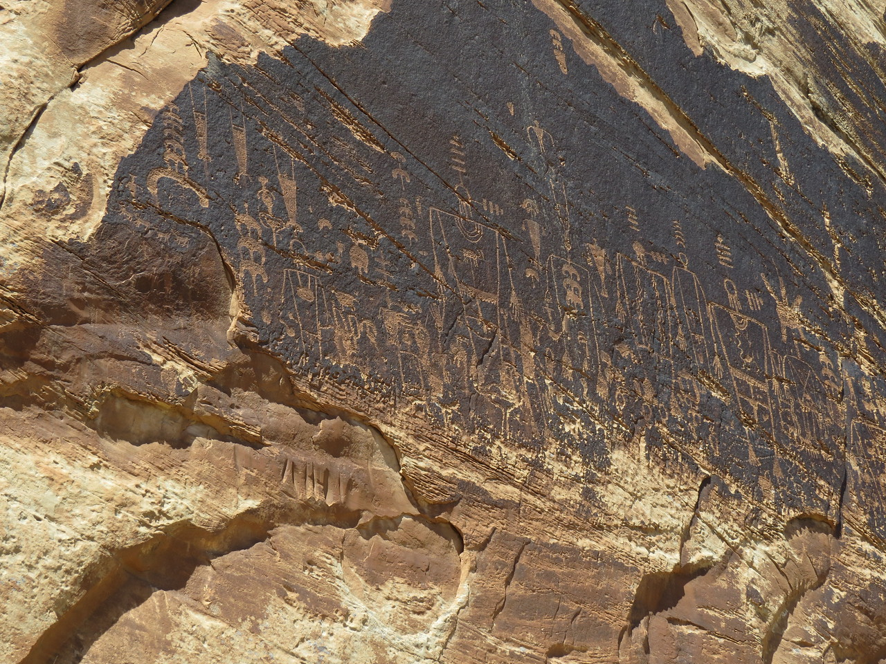 The San Juan has lots of petroglyphs and Anasazi ruins. Some of the best are near Butler Wash at Mile 4.2.