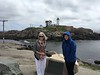 Toby and Holli, cold and windy day at Nubble Lighthouse