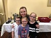 Jana Courtemanche with her Noah, Amelia, and Charlotte