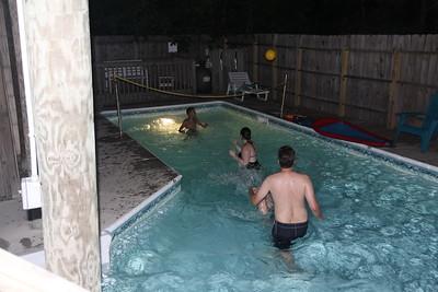 night pool fun
