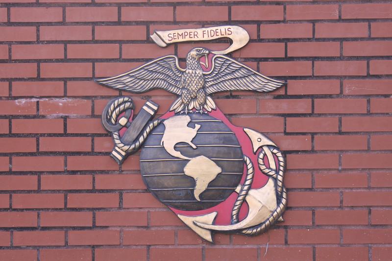 USMC Emblem at MCRD Parris Island
