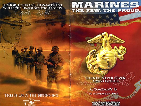 Company B Marine Graduation Ceremony, Marine Corps Recruit Depot, Parris Island, South Carolina, 30 Novermber 2012
