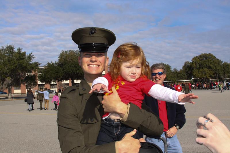 Kasey holds his niece, Josie