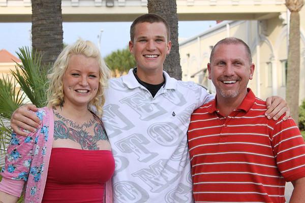 Kristin, Kasey, and Tom