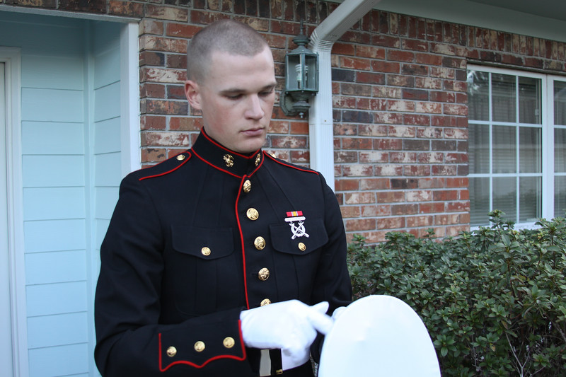 Kasey in his dress blues