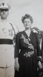 Ben Sano with Mother Anna - CBA Graduation 1948