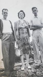 Cousin Val Sano, Mother Anna Sano & Ben Sano - Boston 1941