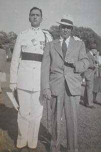 Ben Sano & father Angelo B Sano 1948 CBA Graduation