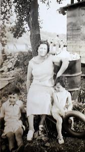 Mother Anna Sano with Ben & Rita  1937