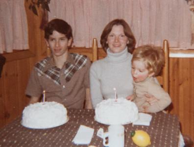 Ruth & Paul's birthdays 1980